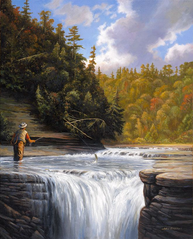 The Fly Fishing Catch   Fly Fisherman Painting