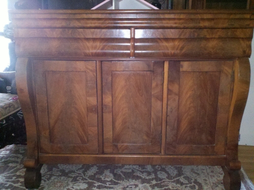 1830 39 s mahogany empire sideboard w silver drawers for for Local furniture for sale
