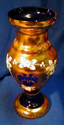 Bohemian Crystal Cobalt Blue Vase For Sale Antiques Classifieds