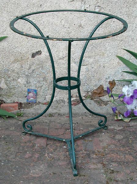 Art Nouveau Wrought Iron Garden Table Base For
