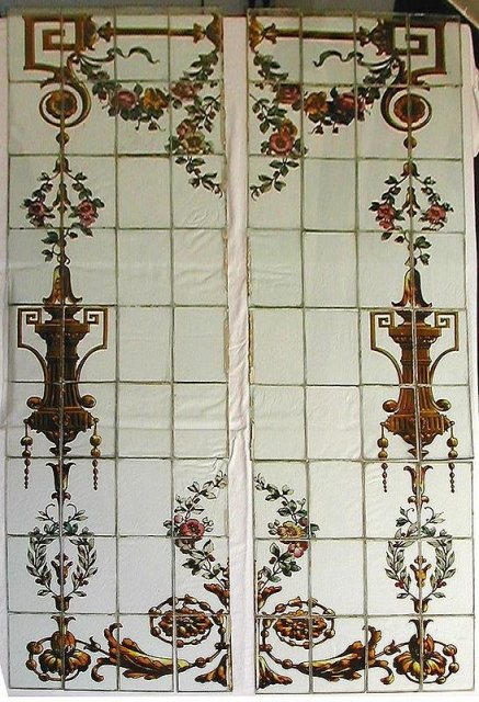 victorian stained glass windows antique pair double panel sale manchester reclaimed for uk