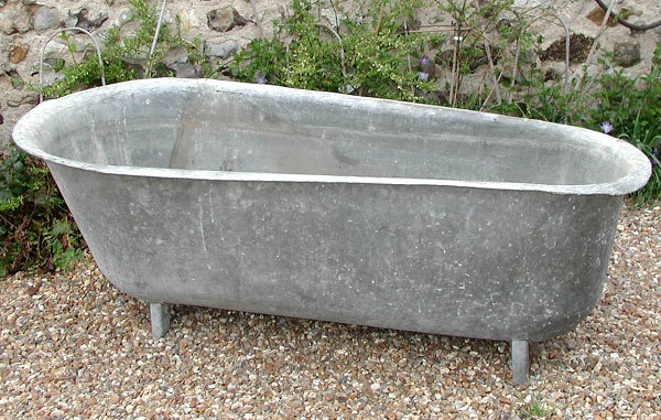 19th c zinc bathtub for sale classifieds. Black Bedroom Furniture Sets. Home Design Ideas