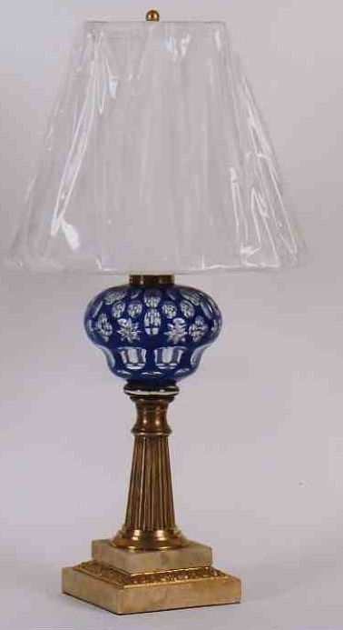 Century American Double Glass Oil Lamp