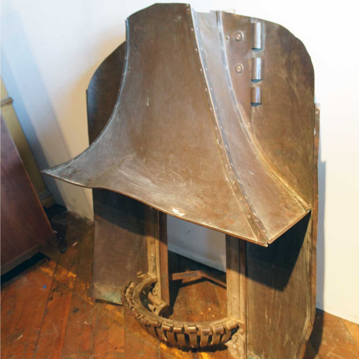 Ref: V-20-0002) English Arts and Crafts Copper Fireplace Hood and ...