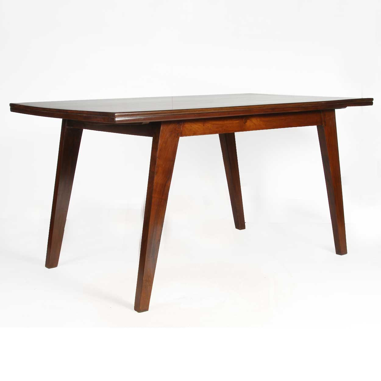 ref t2834 pierre jeanneret teak dining table from chandigarh india for sale. Black Bedroom Furniture Sets. Home Design Ideas