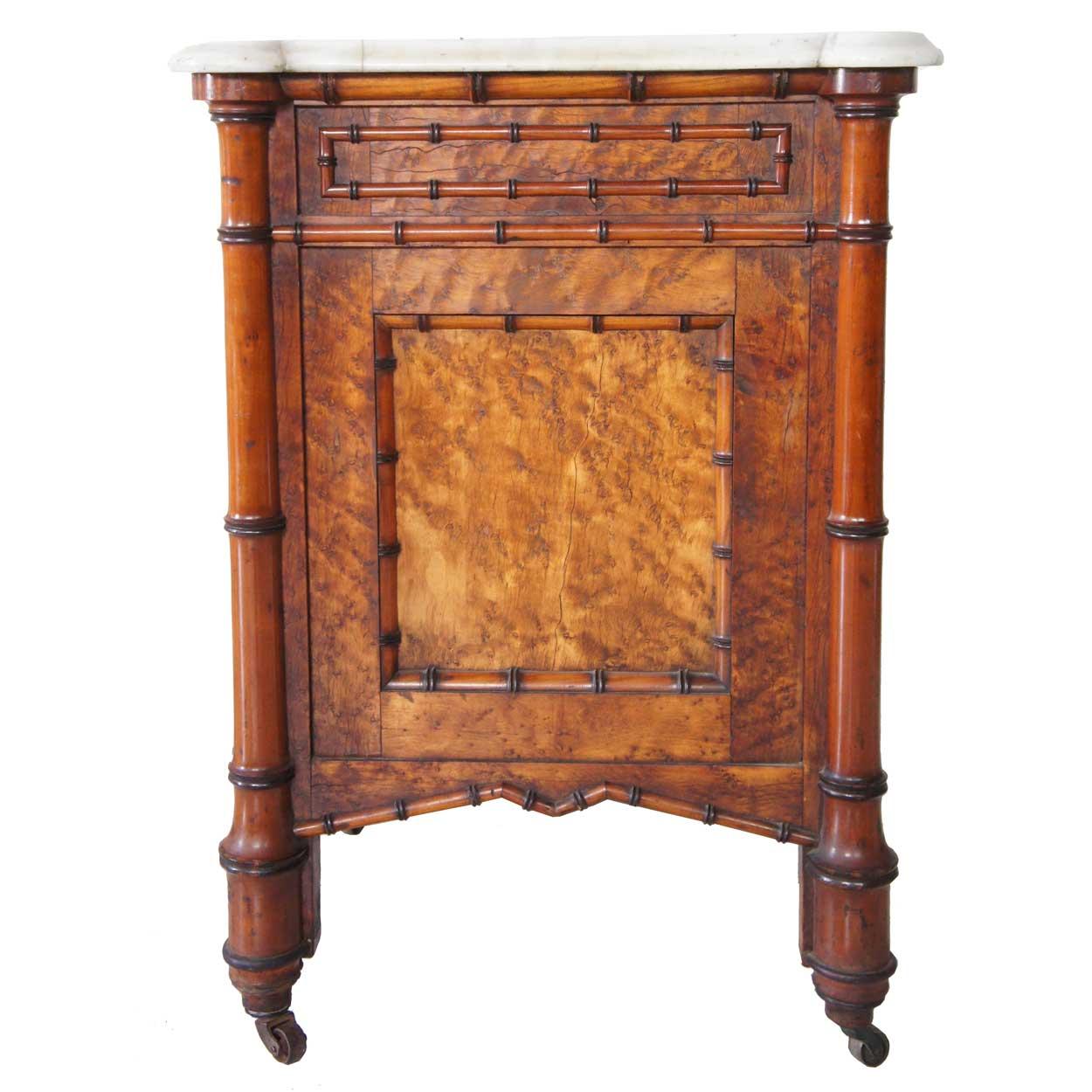 Seven piece american r j horner birdseye maple faux for Maple furniture