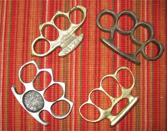 brass bronze duralumin knuckle knuckles duster collection For Sale ...