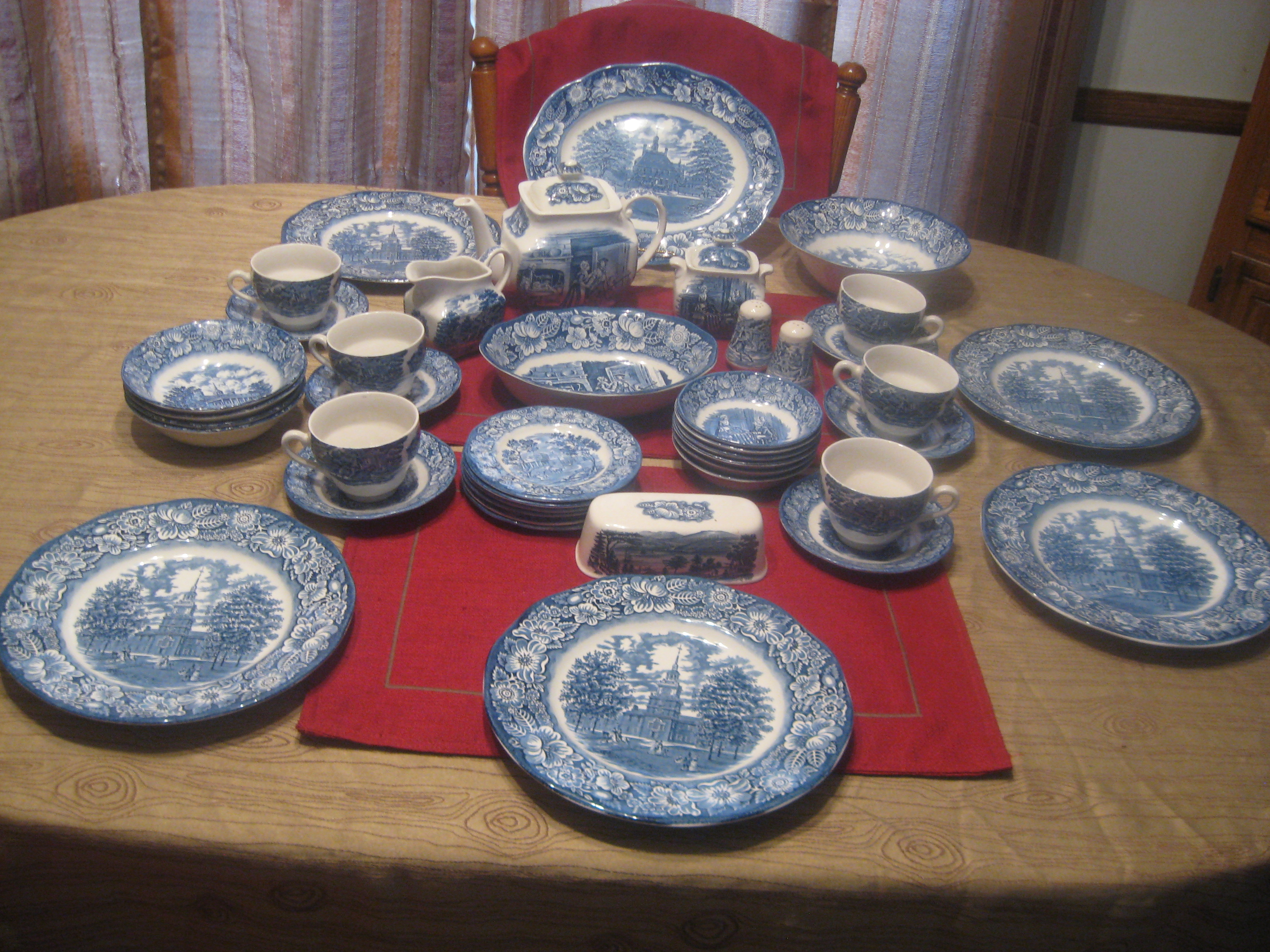 Liberty Blue Set - For Sale & Liberty Blue Set For Sale | Antiques.com | Classifieds