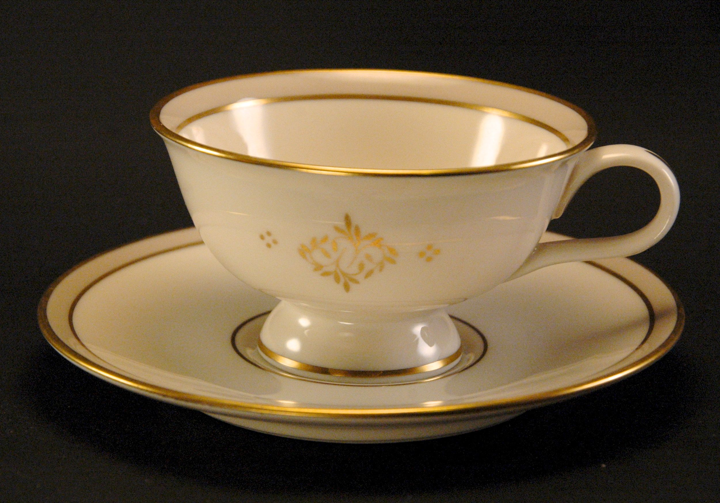 HAVILAND China ELYSEE Pattern Footed CUP & SAUCER Vintage For Sale ...