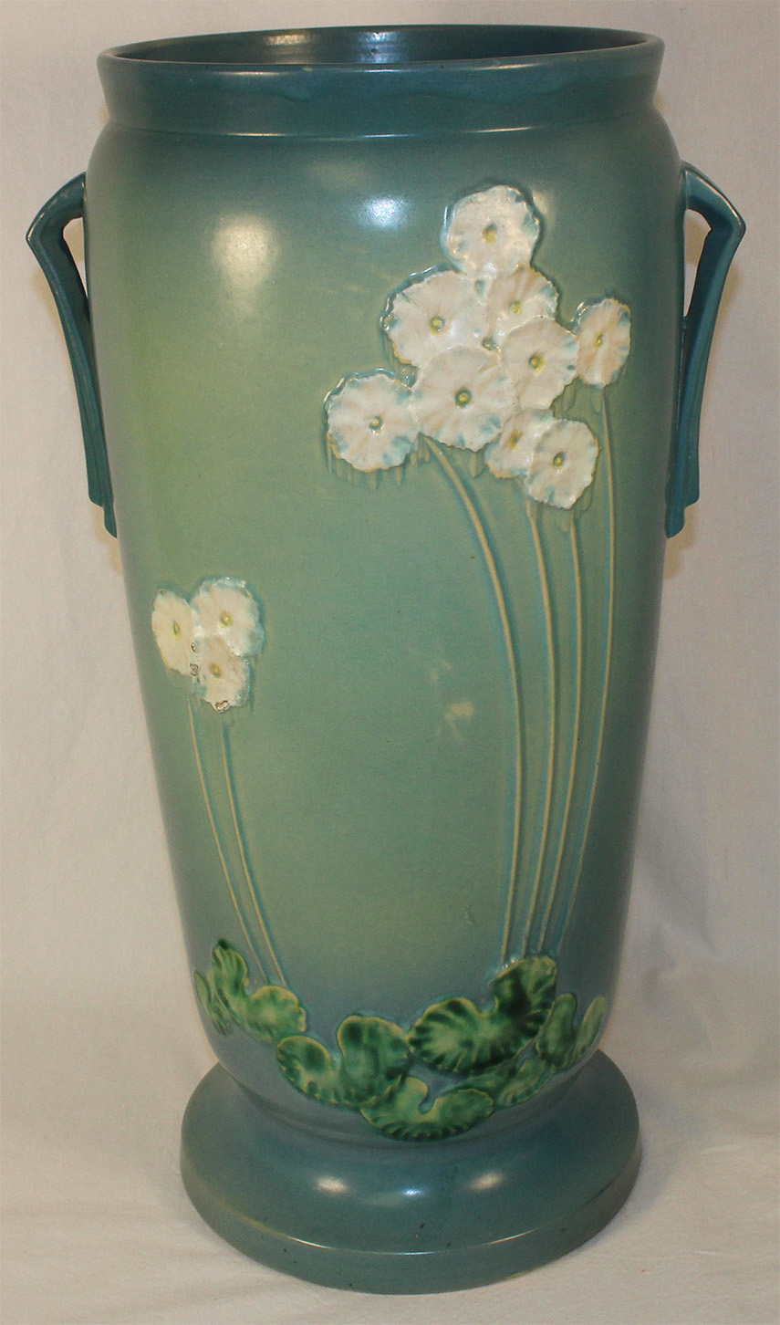 Roseville Pottery Primrose Blue Umbrella Stand 773 21 For