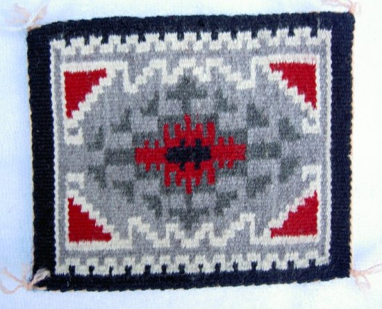 Miniature Navajo Indian Rug By Artisan Victoria Lillie For