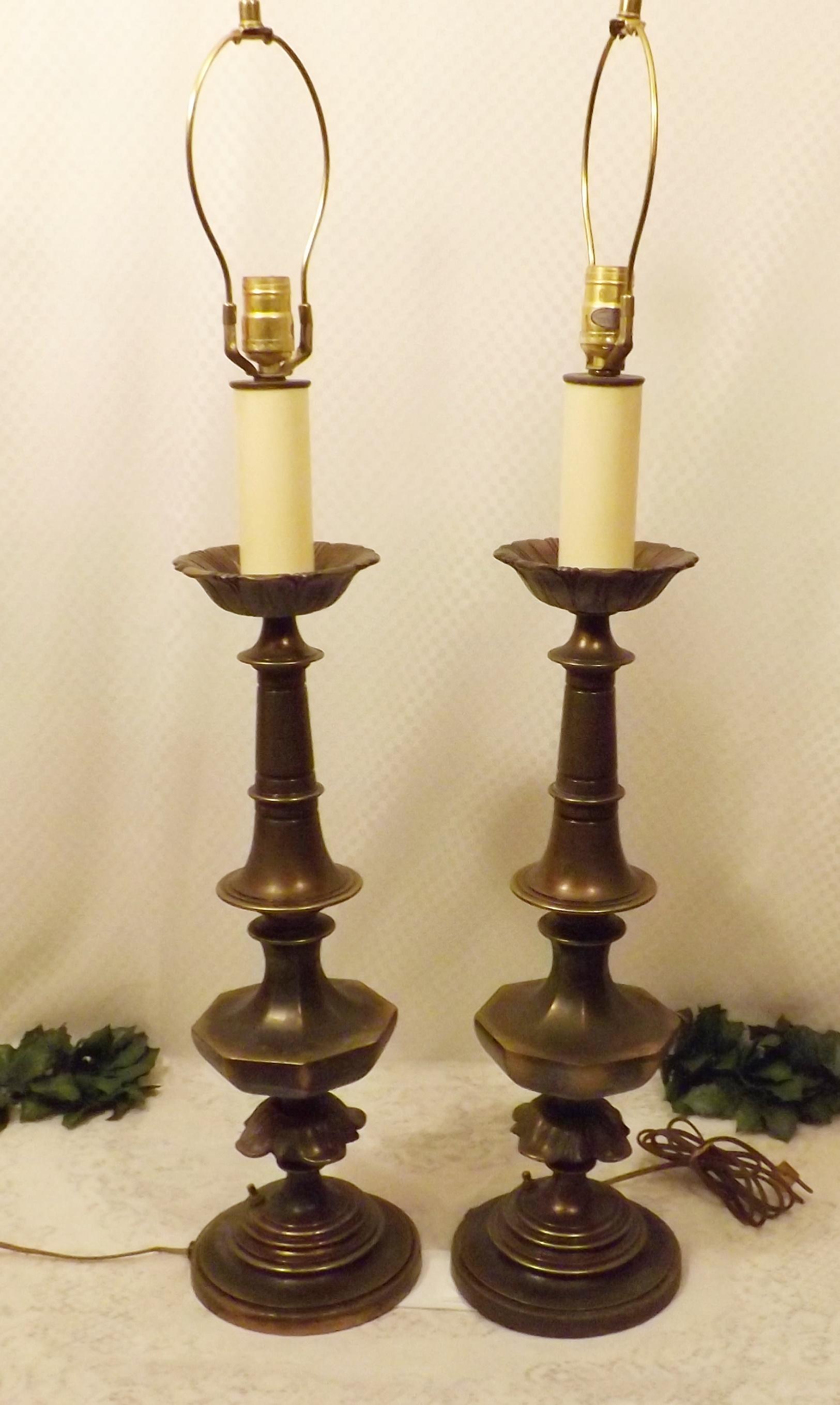 Antiques Antique Pair Of Lamps Vintage