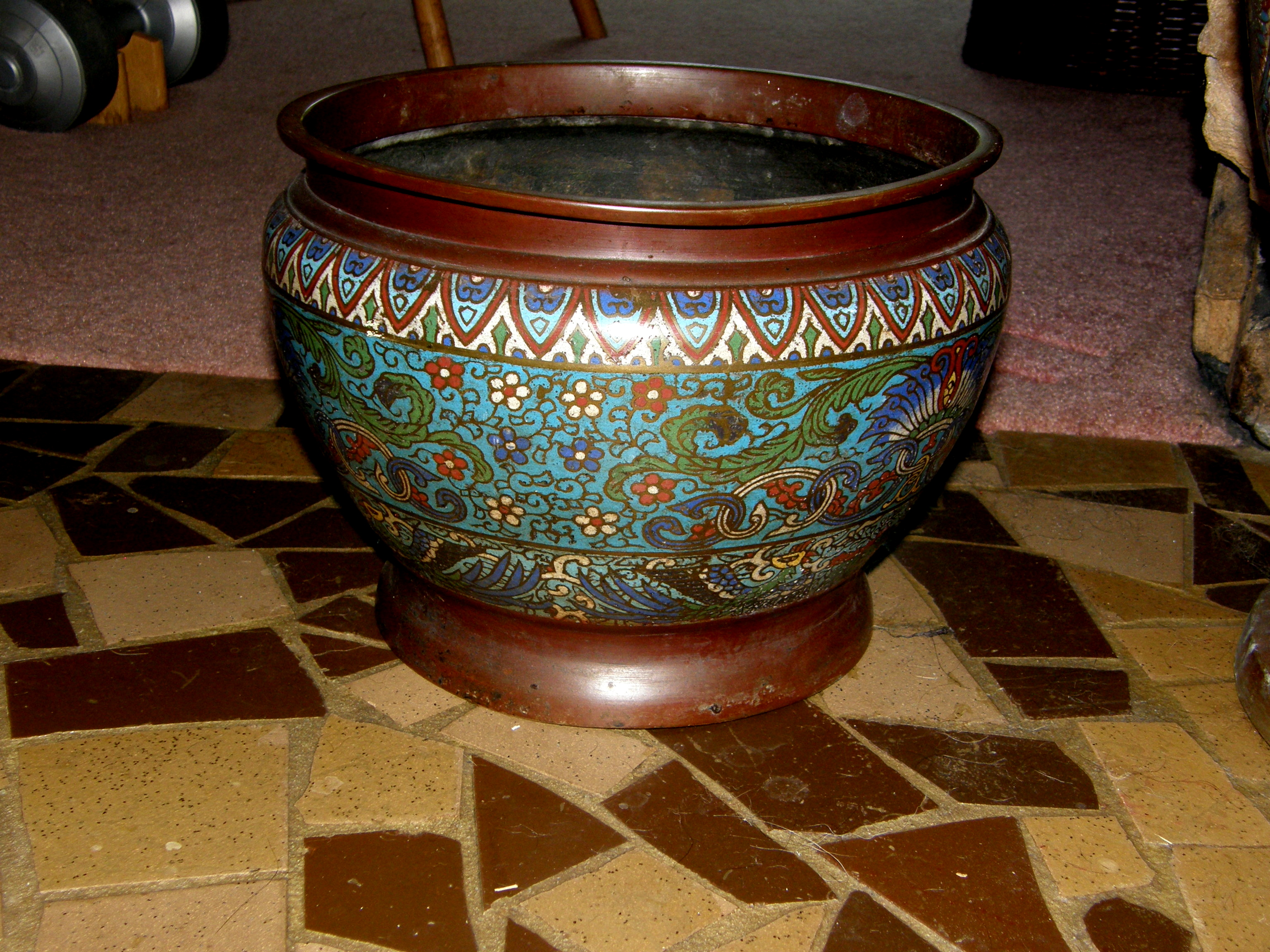 Chinese Cloisonne Planter Large For Sale Antiques Com