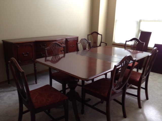1966 Duncan Phyfe Dining Room Set with 6 Chairs, Buffet and China ...