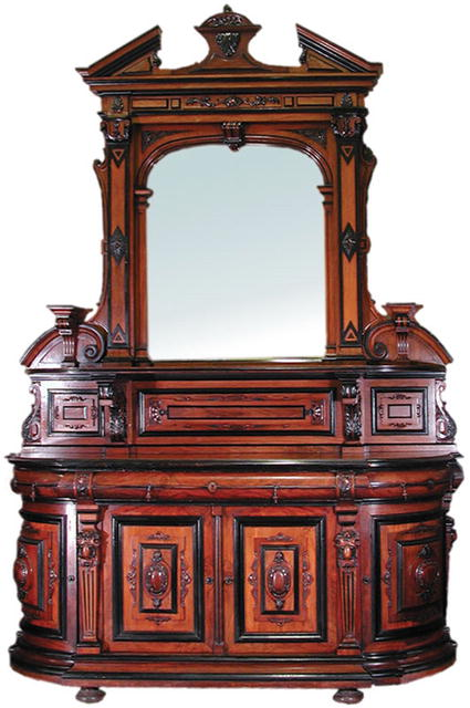 Awesome antique american renaissance sideboard with for American classic antiques