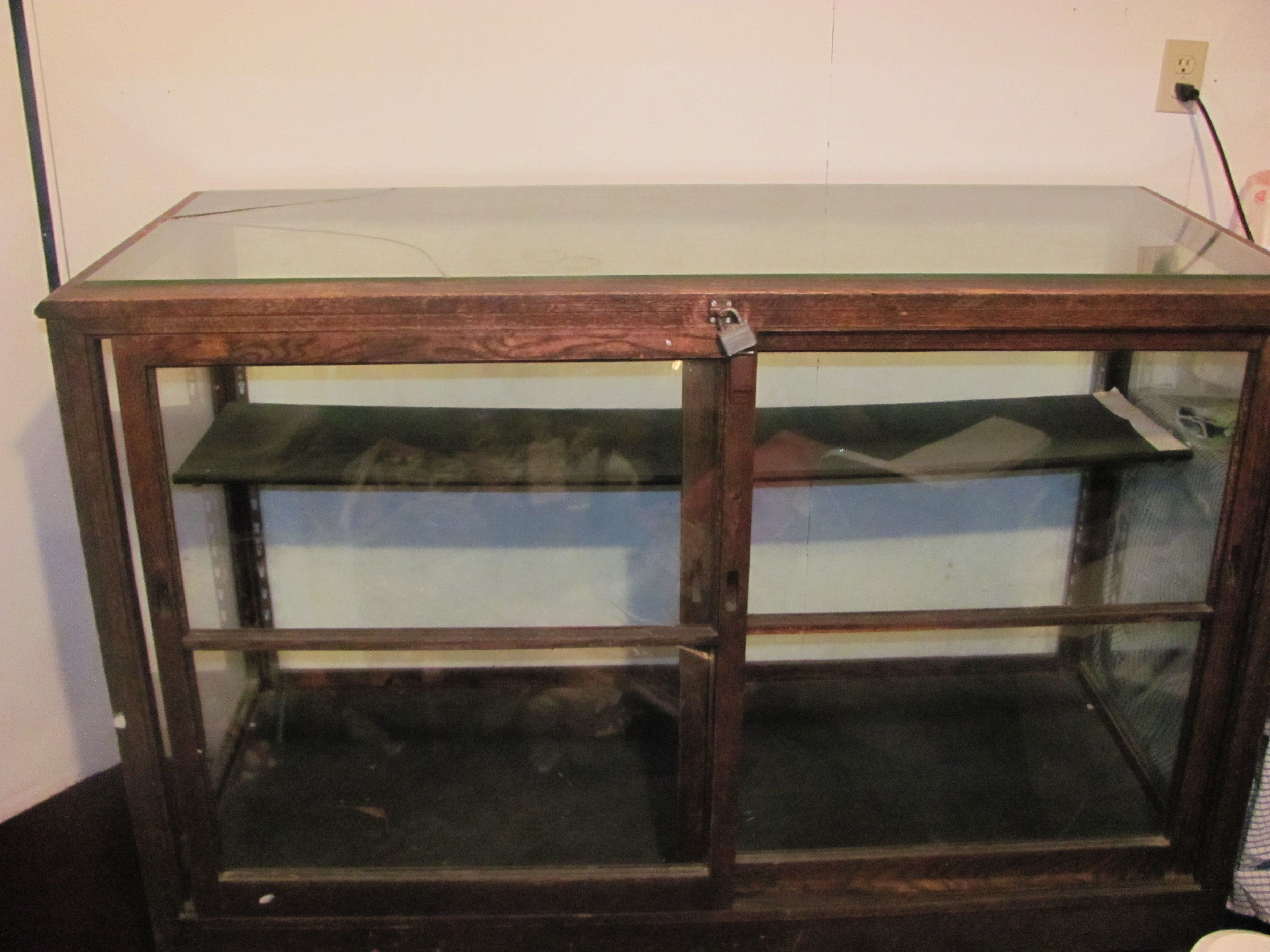 Antique Oak And Glass Display Case For Sale Classifieds