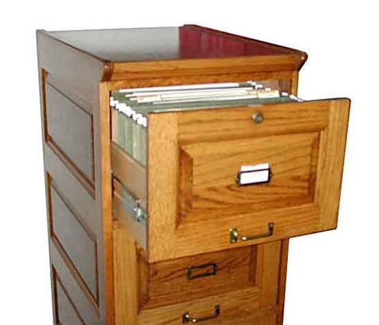 Attrayant Fantastic Four Drawer Oak Filing Cabinet   For Sale