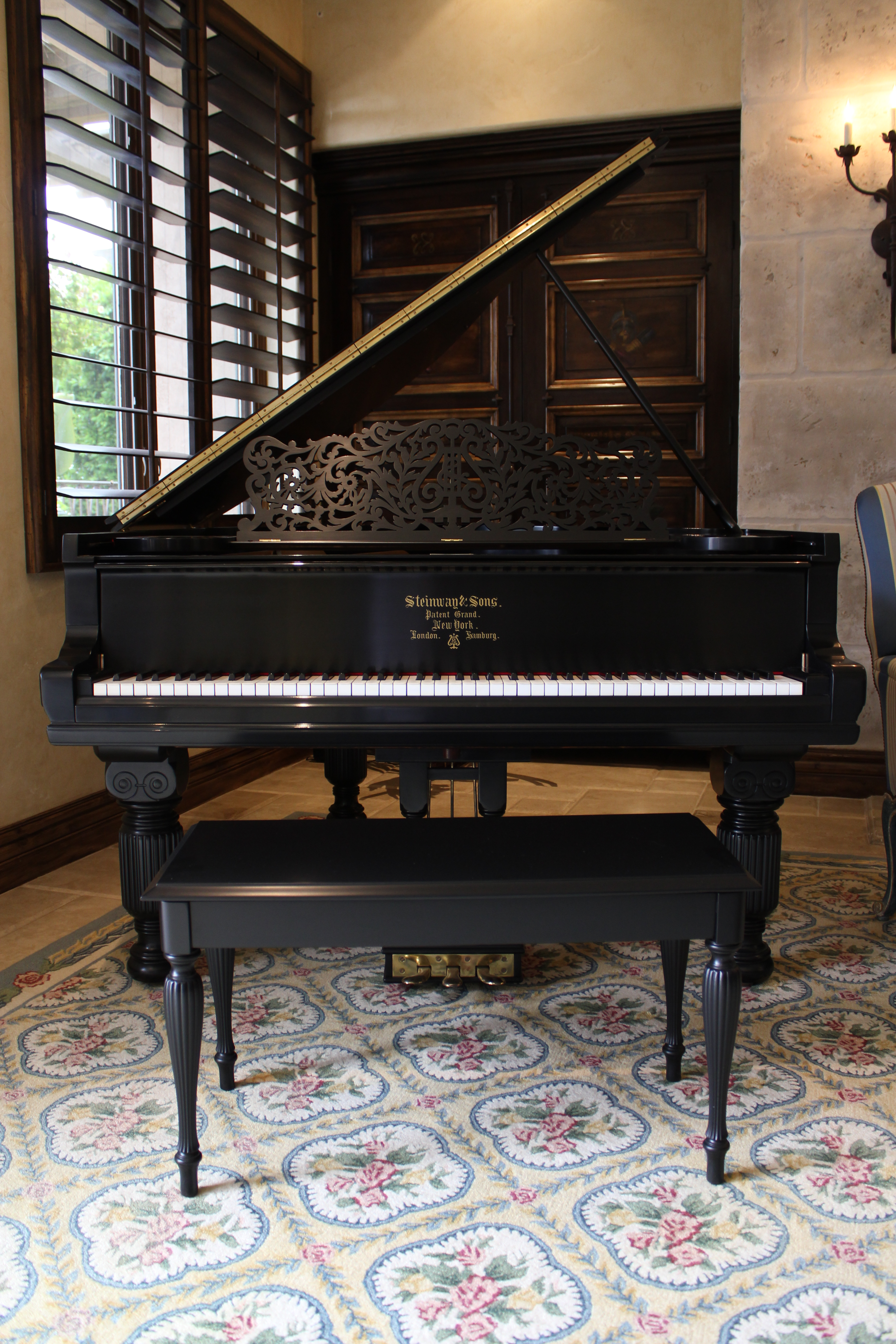 Steinway Amp Sons 1896 Model A Baby Grand Piano For Sale