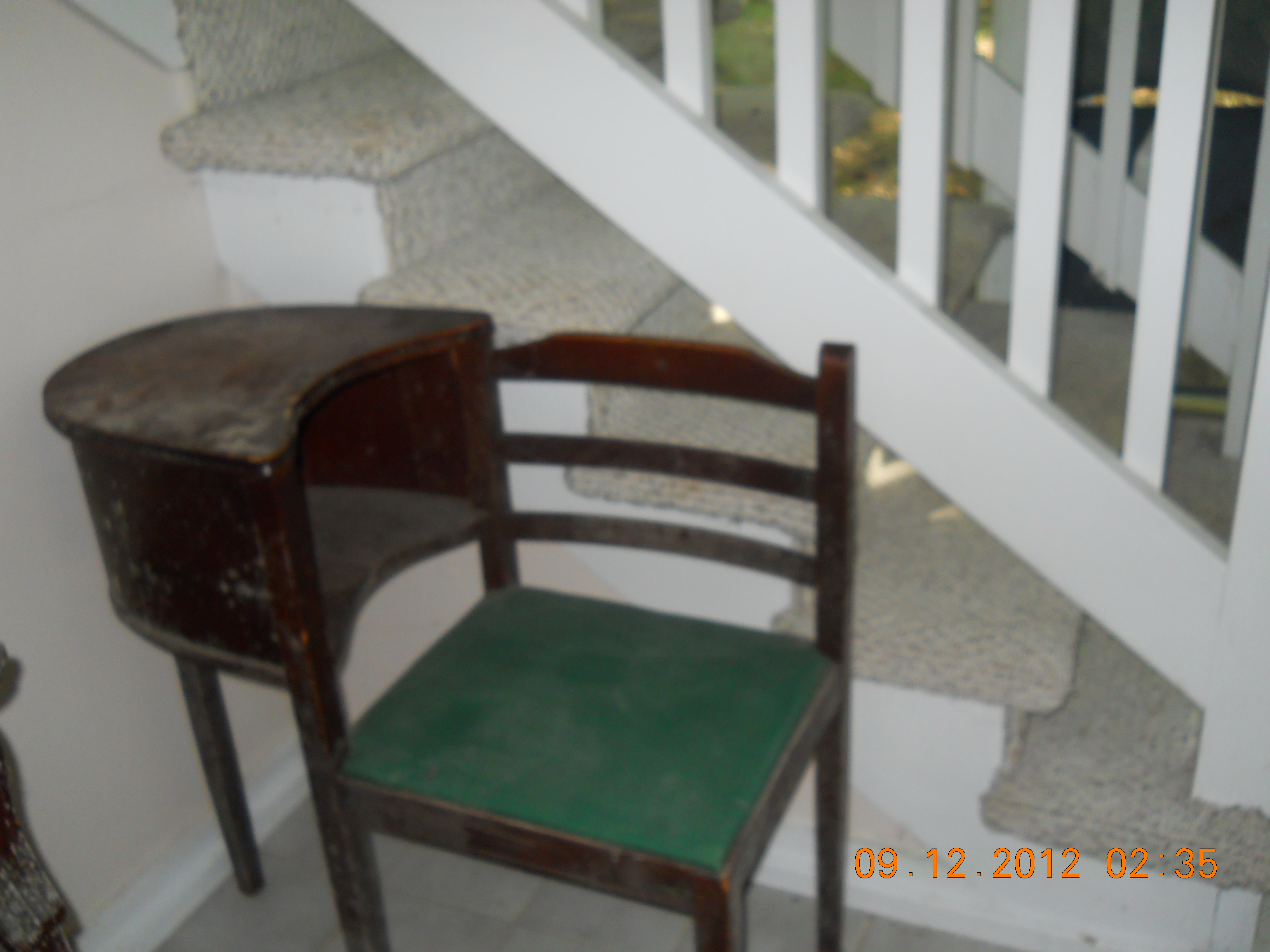 Distressed Telephone Table Chair For Sale