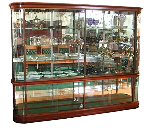 Wonderful antique french mahogany glass display cabinet for Antique display cabinet