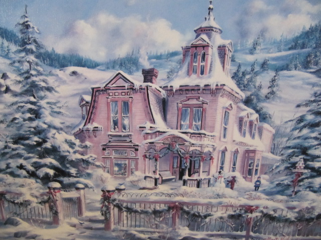 Painting Rocky Mountain Christmas by Marty Bell *REDUCED* For Sale ...