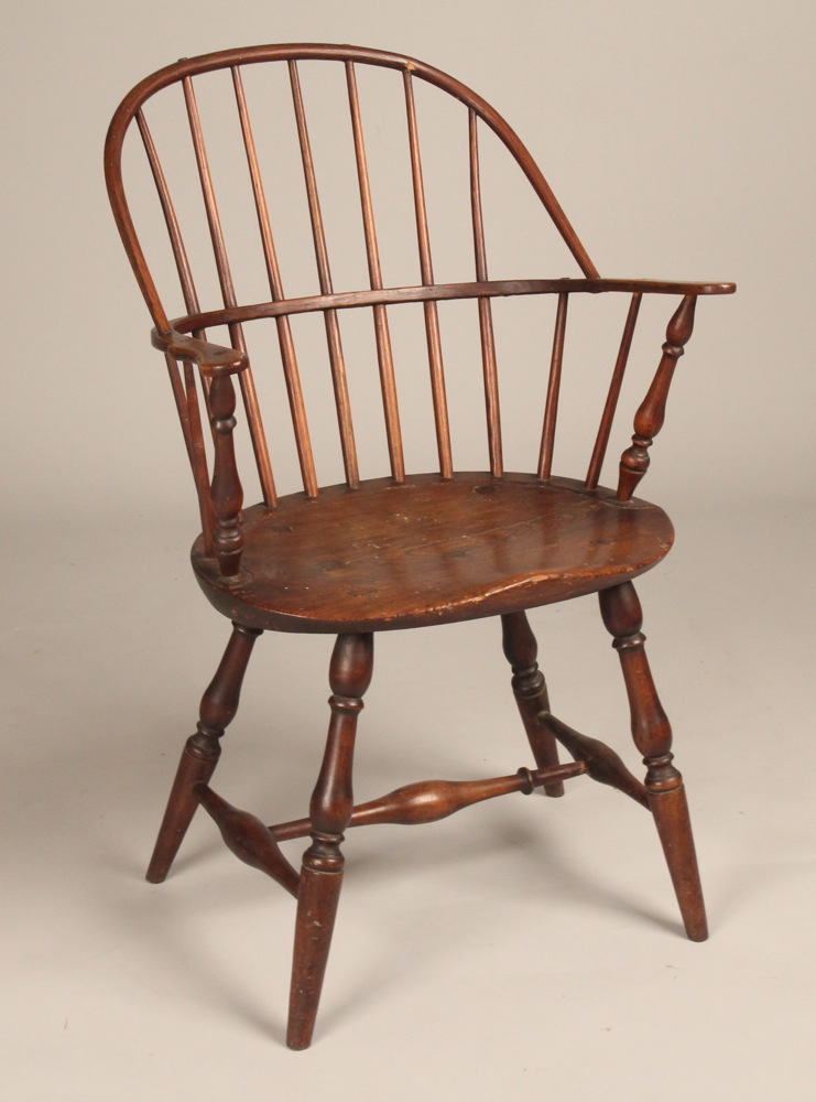 Windsor Arm Chairs ~ Fine antique th century american new england sack back