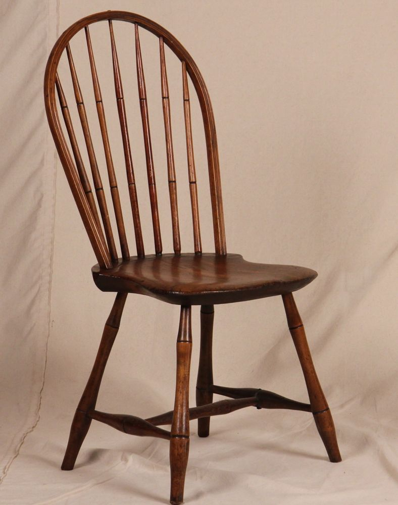 American new england windsor hoop back bamboo turned side for Side chairs for sale