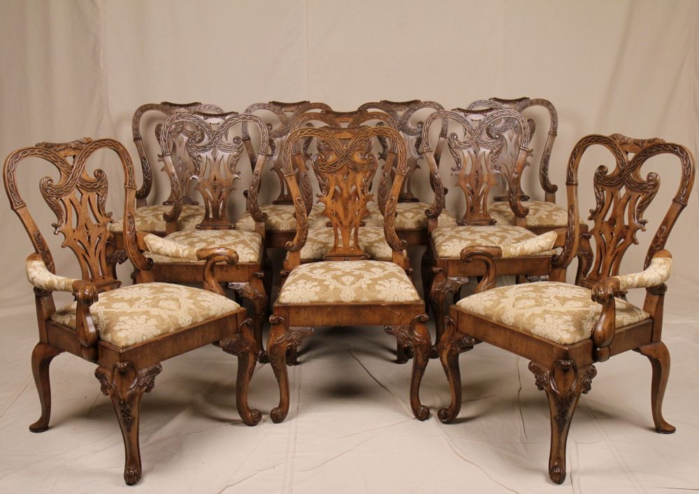 Fine Set of Ten Newport Historic Antique Chippendale