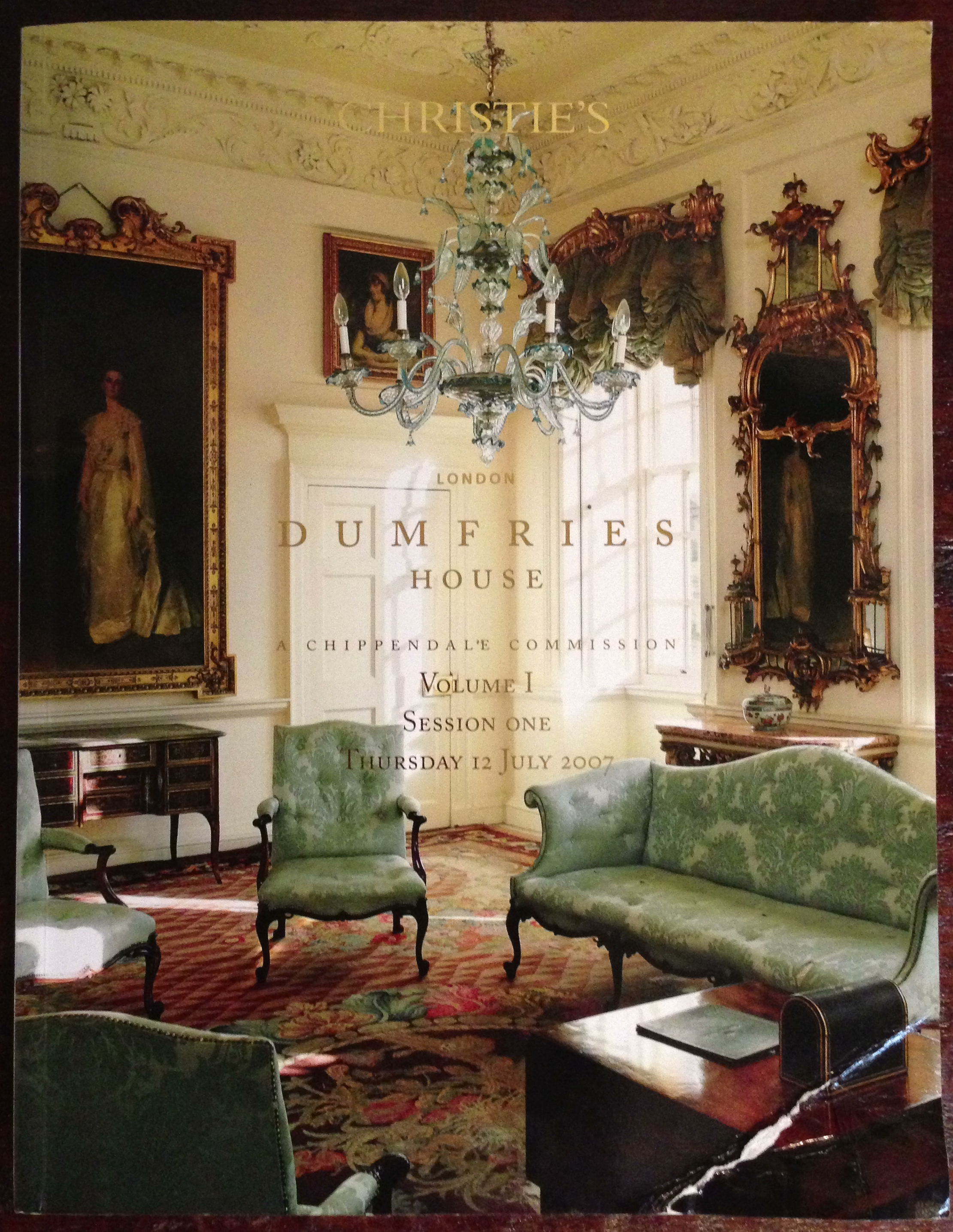 Christie 39 S Auction Catalog Dumfries House Vol 1 Vol 2