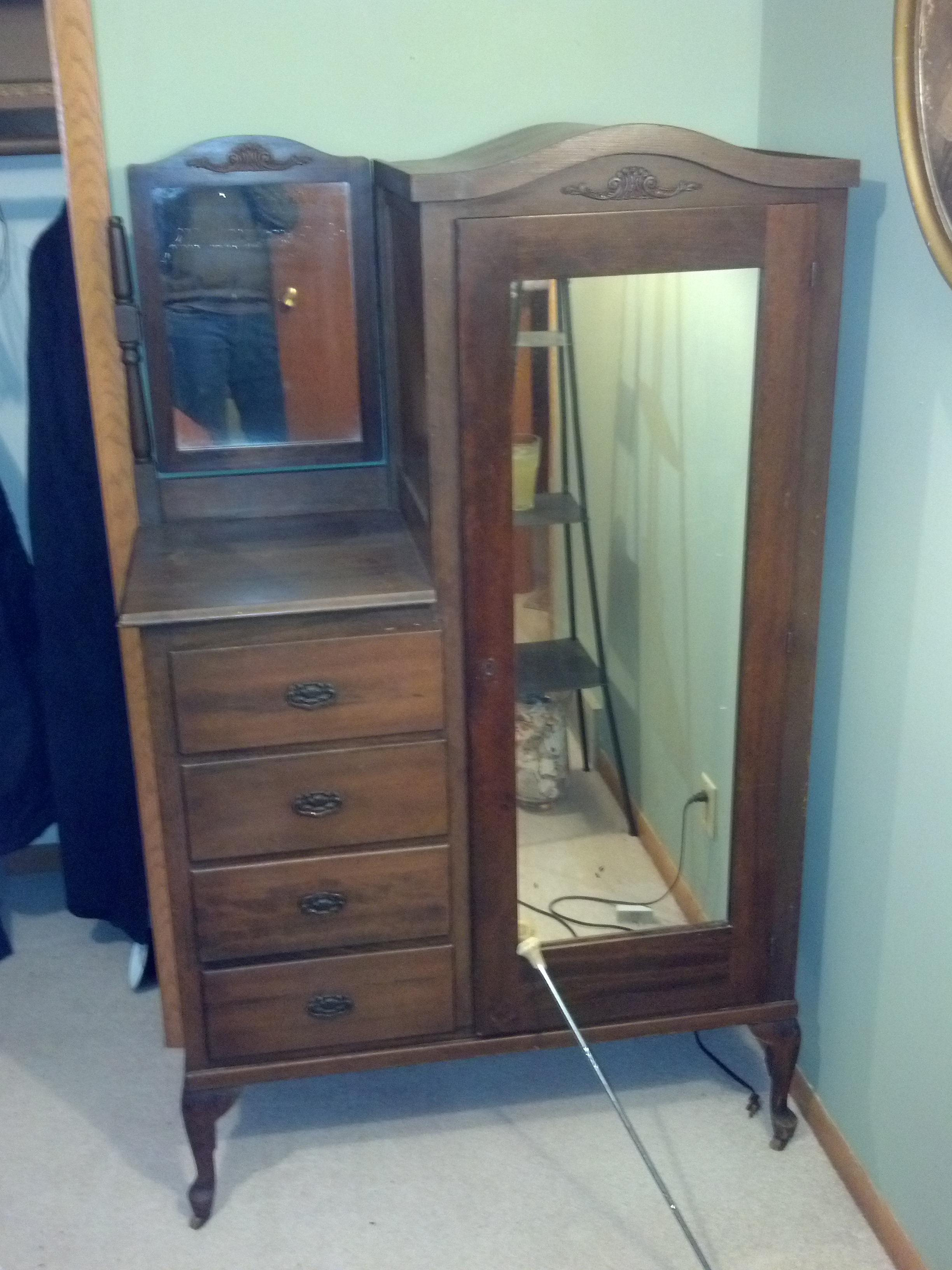 Early 1900 39 S Wardrobe Dresser For Sale