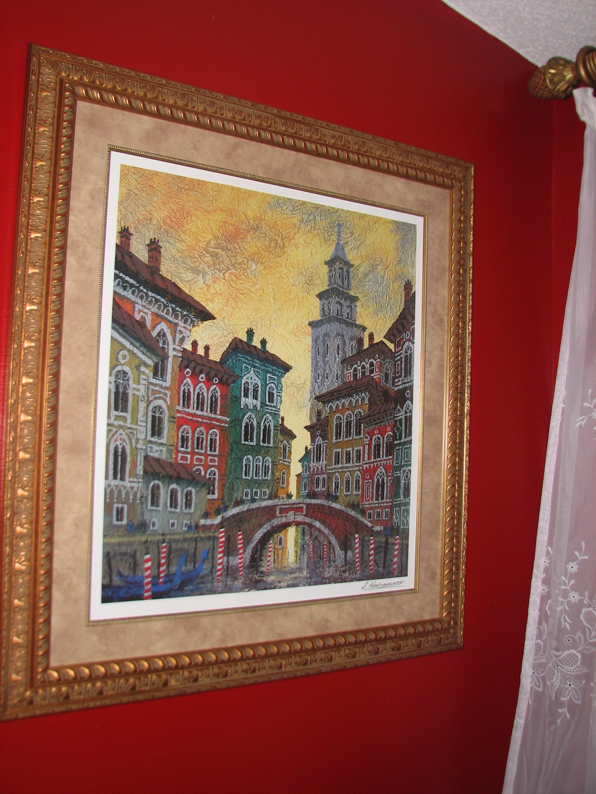 Venice Yellow Sunset By Anatole Krasnyansky For Sale