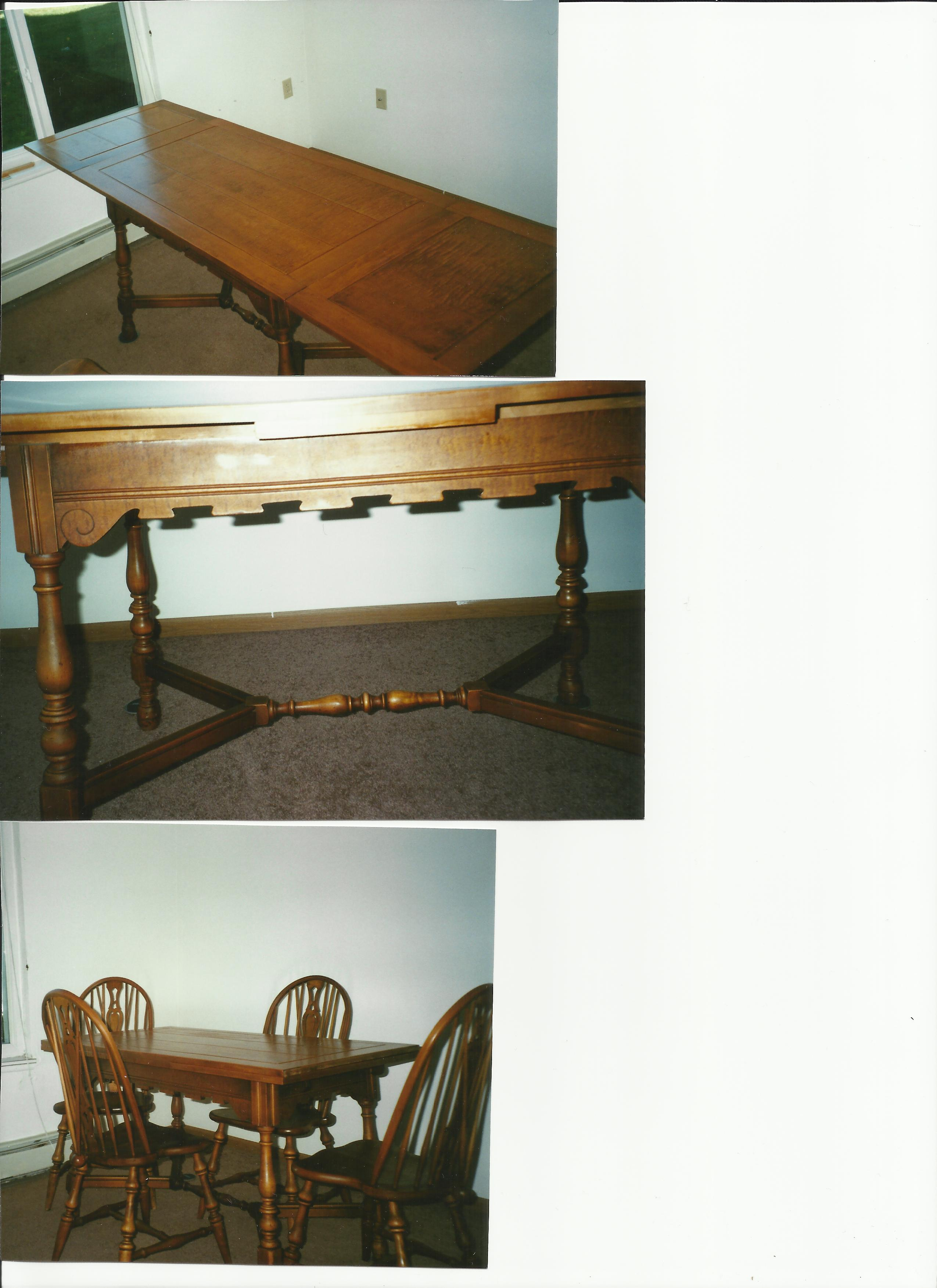 Maple Pub Dining Table And Windsor Chairs For Sale Classifieds