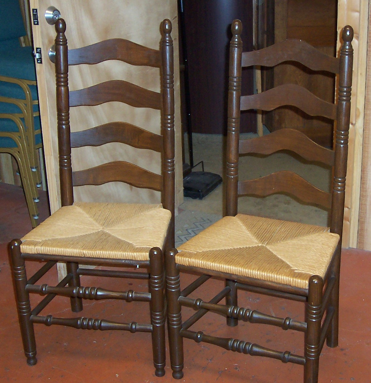 ladderback chairs set of 2 for sale classifieds. Black Bedroom Furniture Sets. Home Design Ideas