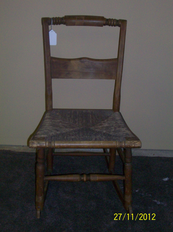 Antique Cane Bottom Rocking Chair For Sale Antiques Com