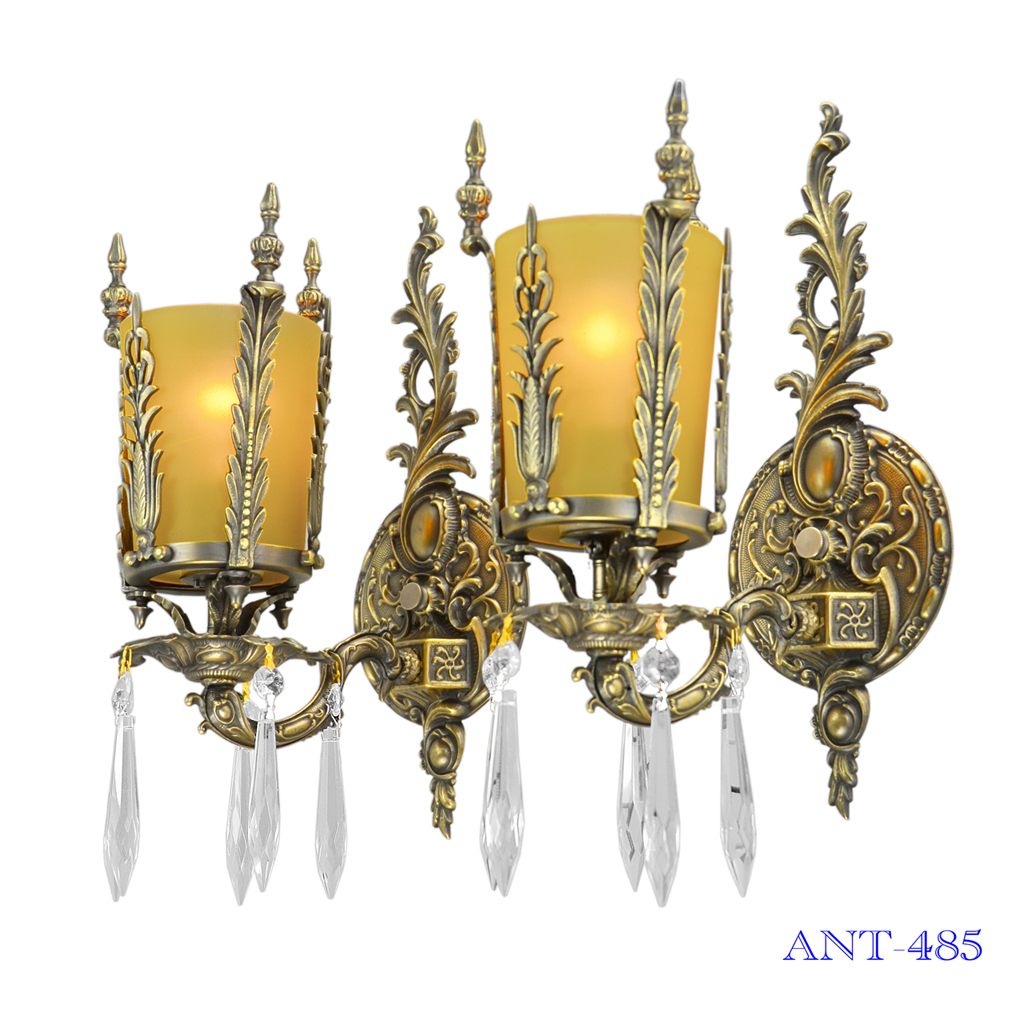 Art Deco Style Pair Of Antique Wall Sconce Lights Circa 1920   1930  (ANT 485)   For Sale