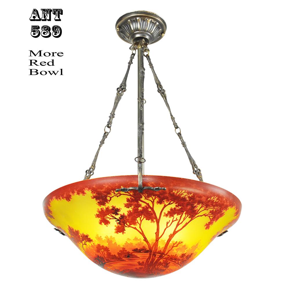 Ceiling bowl chandeliers handmade scenic landscape cameo glass ceiling bowl chandeliers handmade scenic landscape cameo glass lights ant 589 for sale aloadofball Images