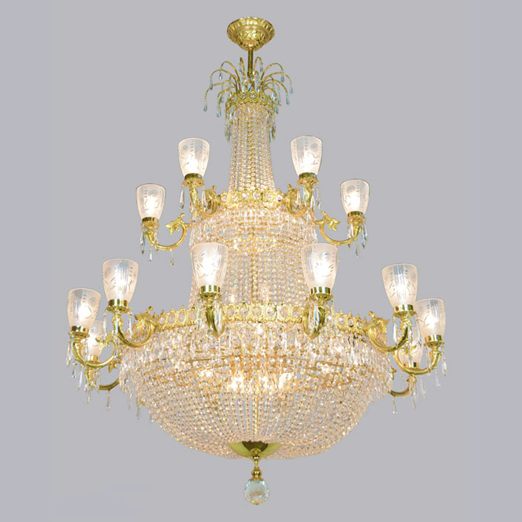 Magnificent large vintage ballroom crystal chandelier ant 372 for sale - Chandeliers on sale online ...
