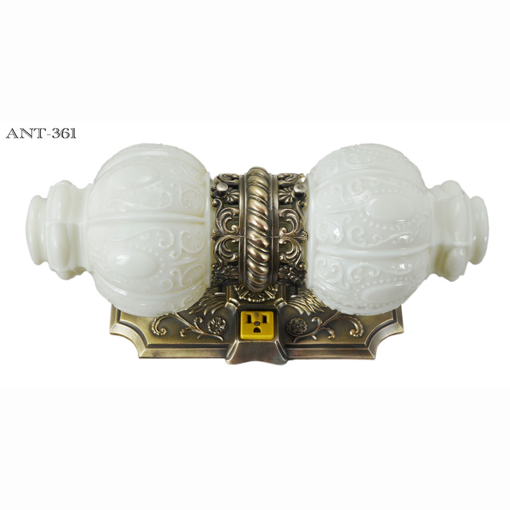 very decorative victorian style over the sink bathroom light ant 361