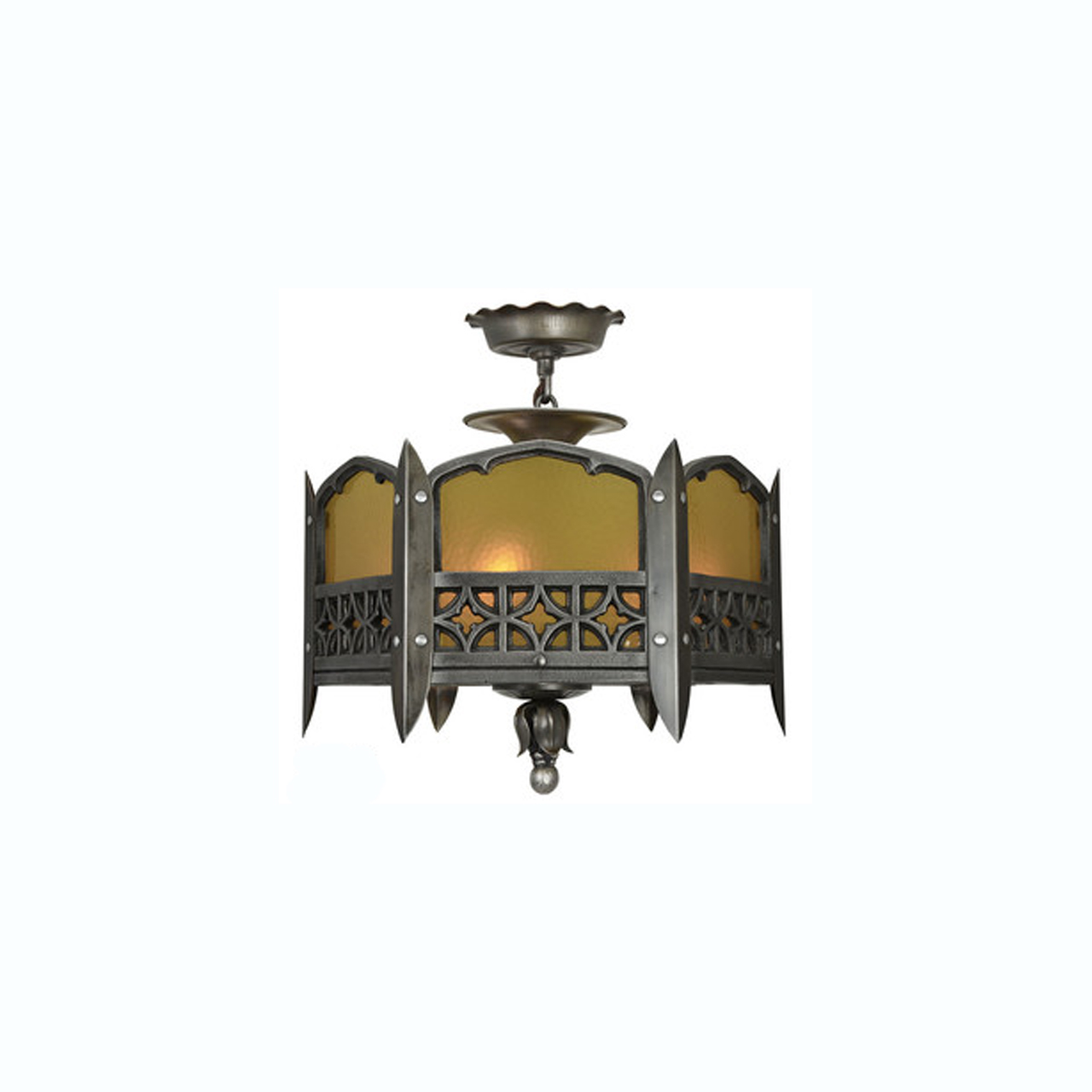 Gothic or arts and crafts style low or short ceiling chandelier gothic or arts and crafts style low or short ceiling chandelier light ant 321 for sale arubaitofo Choice Image