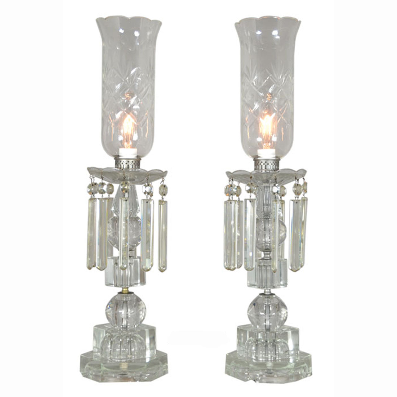 Outstanding pair of period edwardian cut crystal hurricane table outstanding pair of period edwardian cut crystal hurricane table lamps ant 380 for sale aloadofball Images