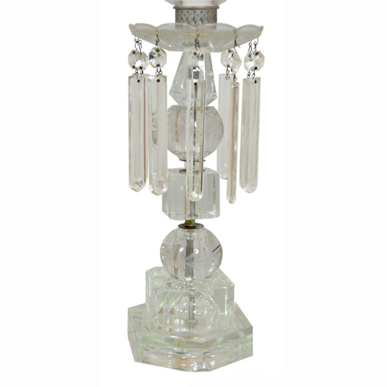 edwardian cut crystal hurricane table lamps ant 380 for sale. Black Bedroom Furniture Sets. Home Design Ideas