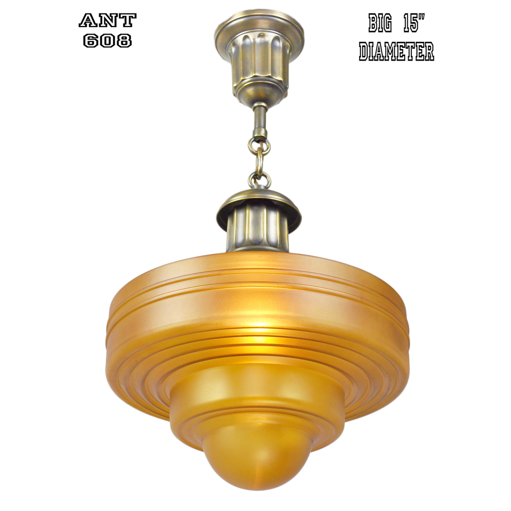 Antique pendants ceiling lights ca 1910 1920 schoolhouse fixtures ant 608 for sale