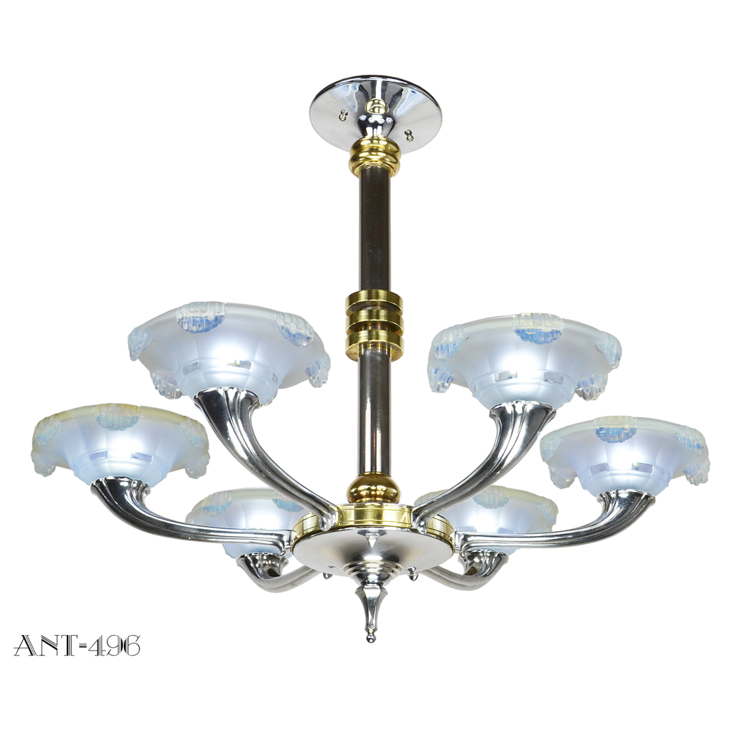 Streamline art deco french chandelier circa 1930 rewired for streamline art deco french chandelier circa 1930 rewired for energy efficient led ant 496 for sale aloadofball Images