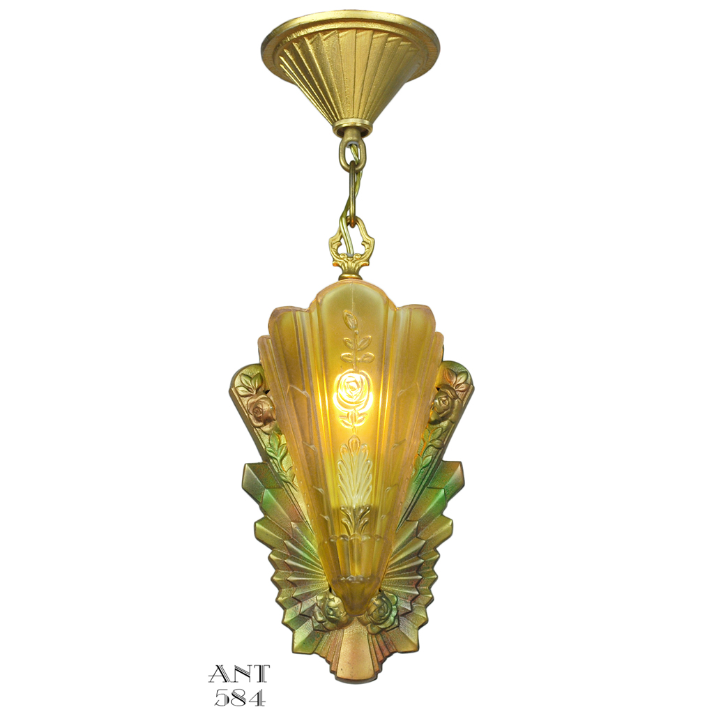 Art deco slip shade pendant light fixture by frankelite circa 1933 art deco slip shade pendant light fixture by frankelite circa 1933 ant 584 for sale arubaitofo Gallery