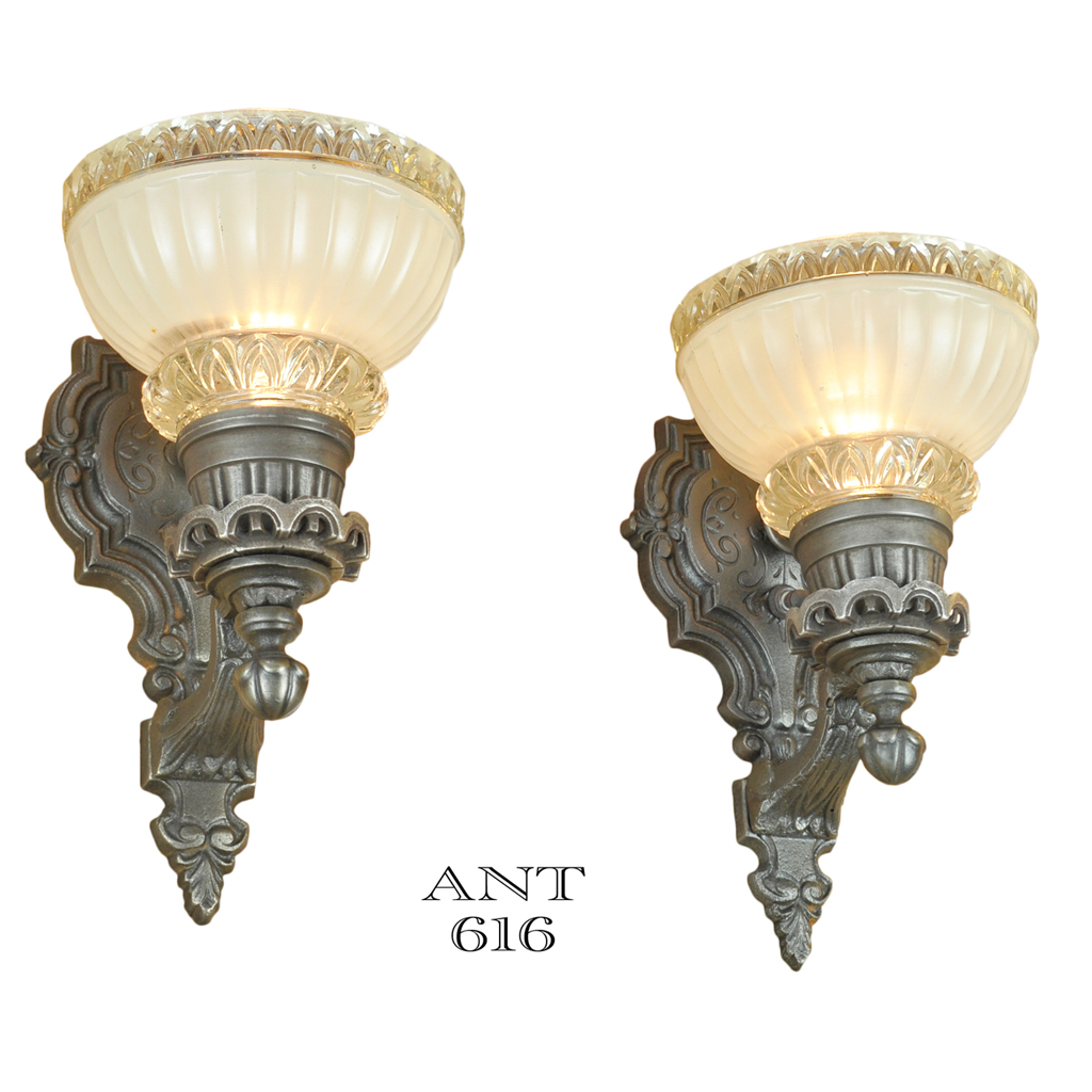 Edwardian style wall sconces classic 1930s antique lights for Old looking light fixtures