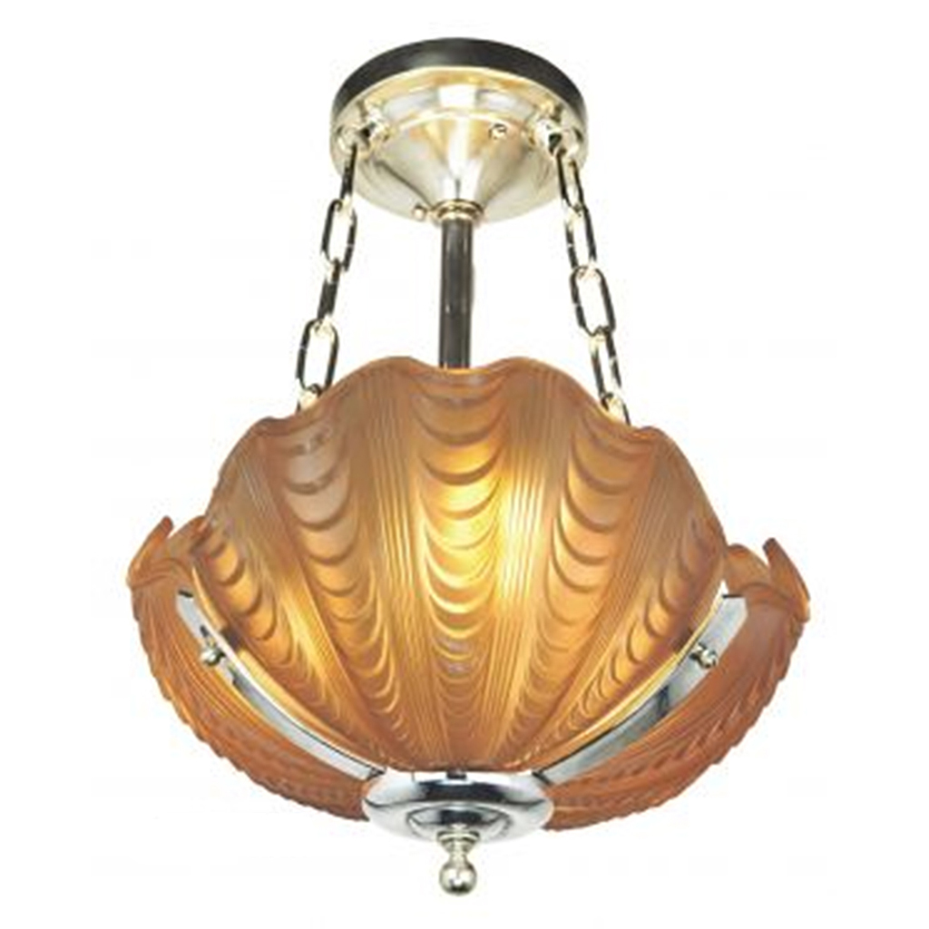 antique odeon theater chandelier circa 1930 art deco clamshell theatre light ant 420 for sale. Black Bedroom Furniture Sets. Home Design Ideas