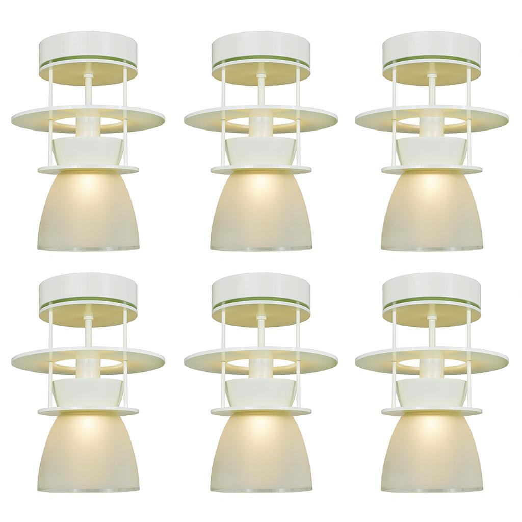 Set of six atomic midcentury modern ceiling lights semi for Modern ceiling light fixtures