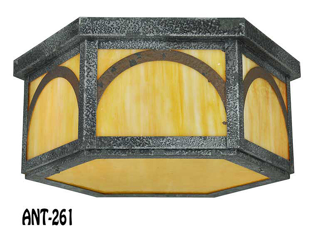 Arts crafts craftsman low ceiling lighting fixture for Arts and crafts for sale