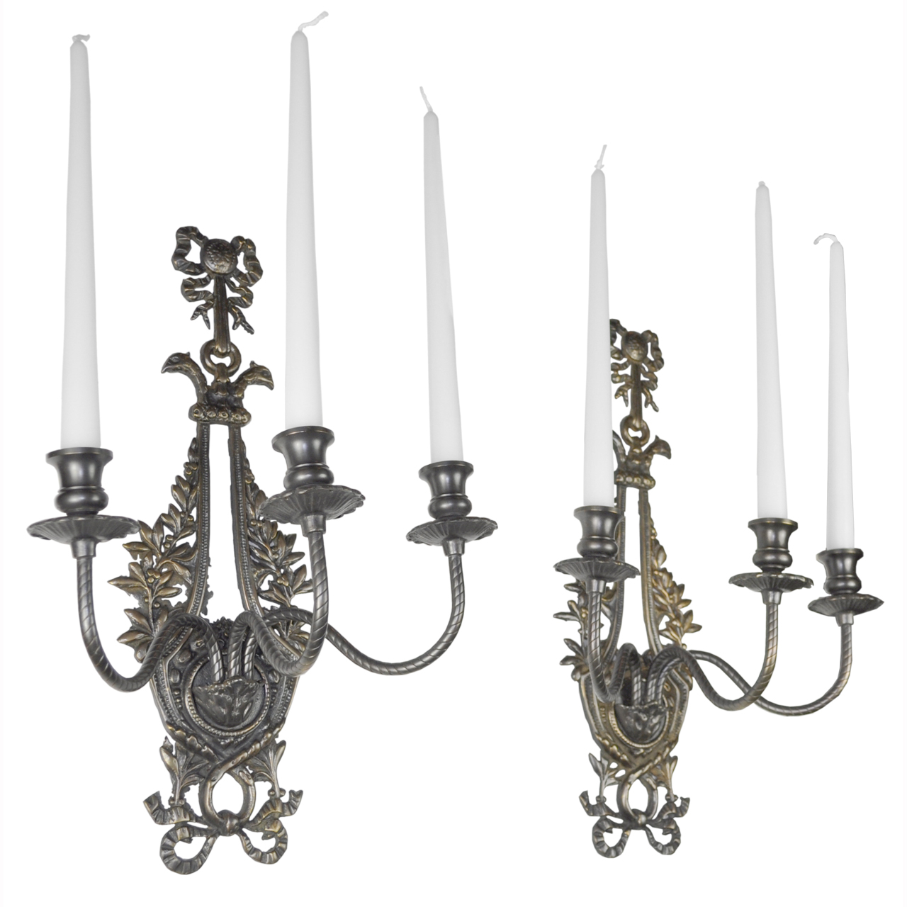 Victorian Neo-Rococo Pair of Candelabrums Wall Sconces Candle Holders (ANT-401) For Sale ...