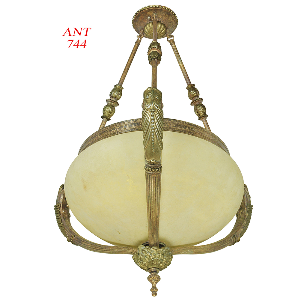Vintage rewired pair of edwardian chandeliers ceiling bowl lights vintage rewired pair of edwardian chandeliers ceiling bowl lights ant 744 for sale arubaitofo Images